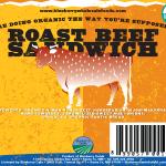 Roast Beef Sandwich Label