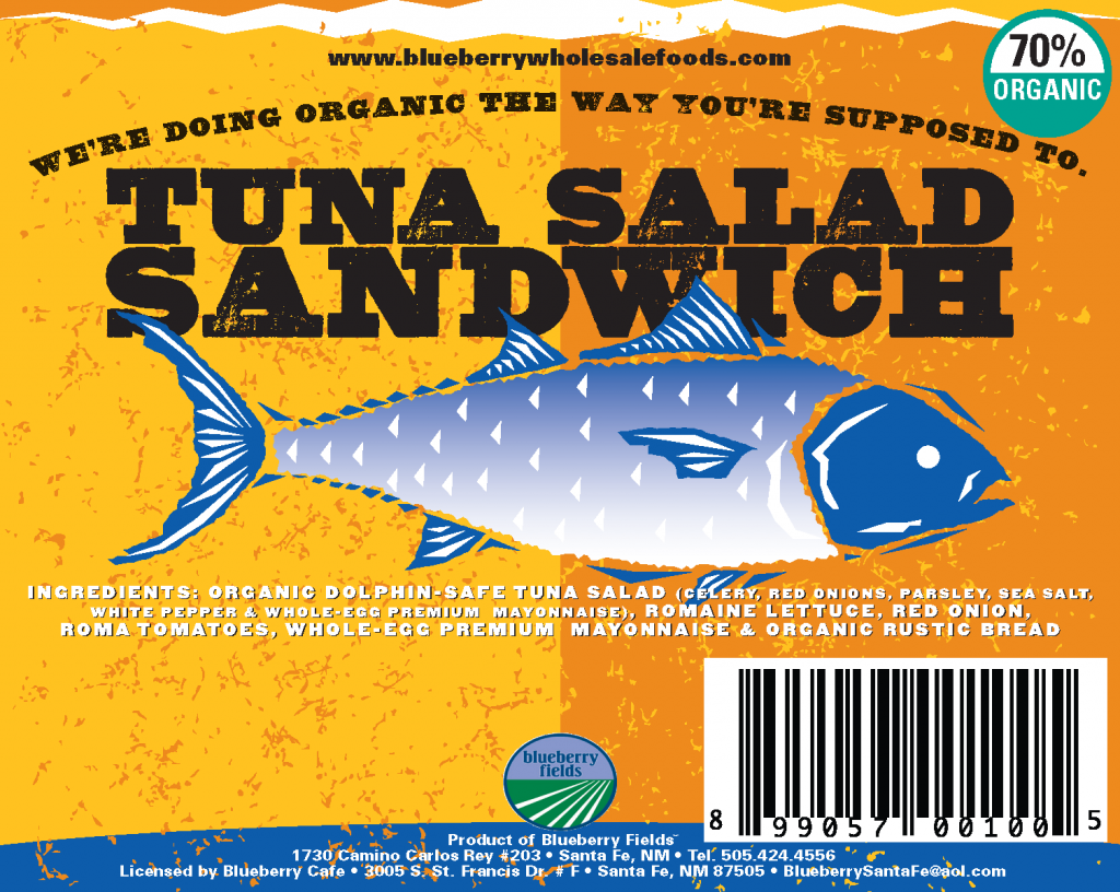 Tuna Sandwich label