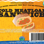 Cold Meatloaf Sandwich Label