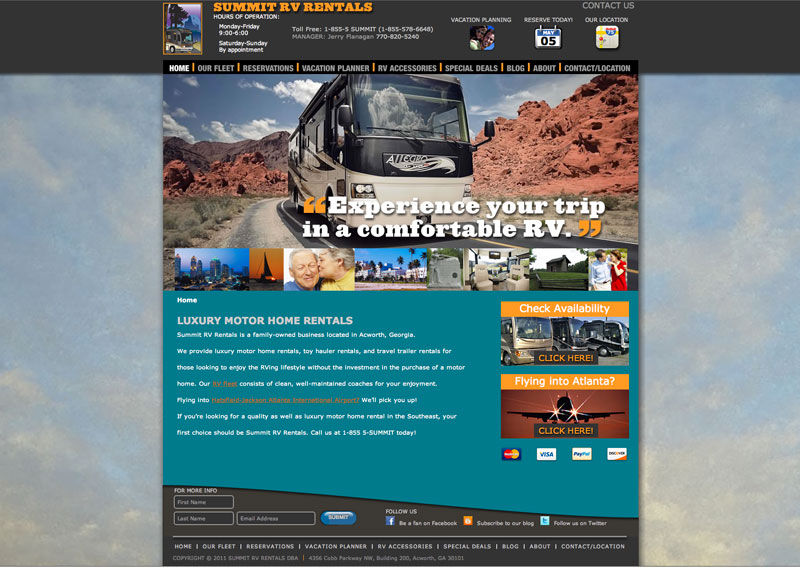 Summit RV Website