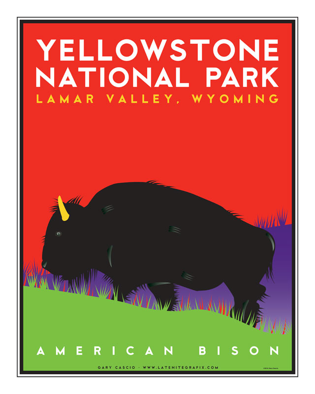 American Bison/Yellowstone National Park poster