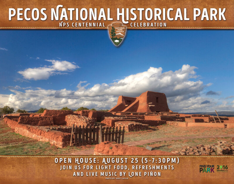 Poster design for event at Pecos National Historical Park (Check out our portfolio to see more of our design work)