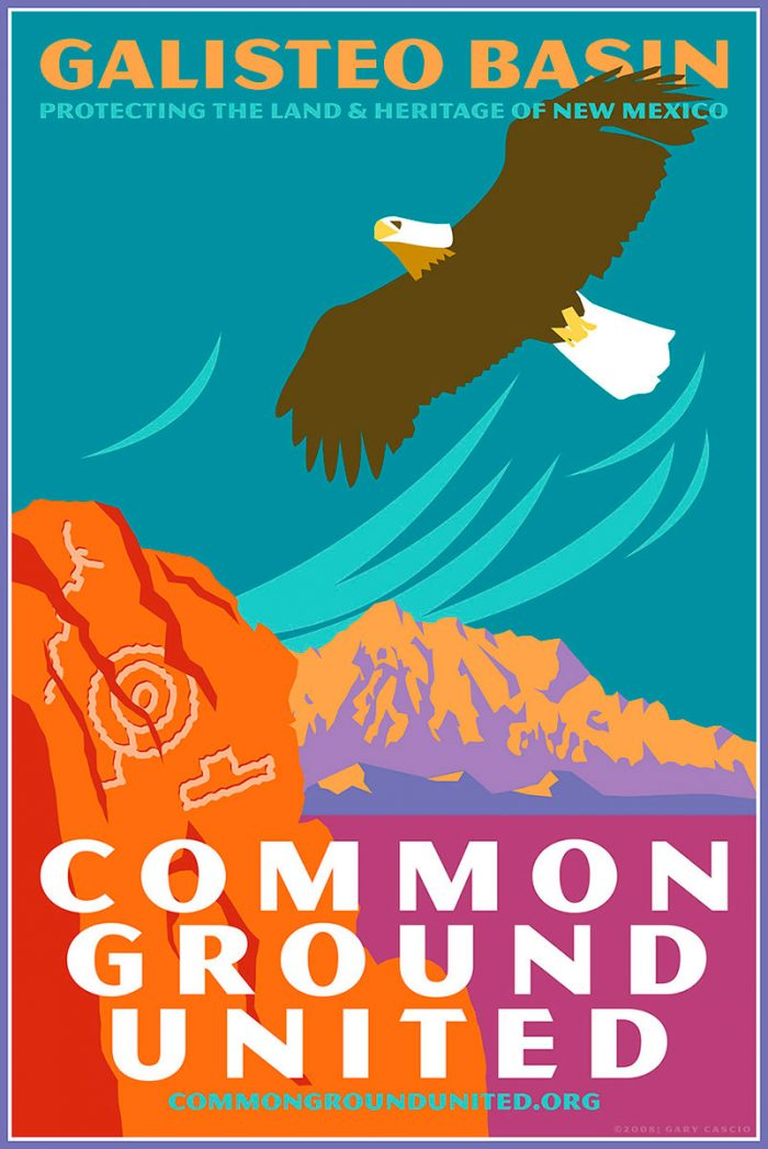 Galisteo Basin: Protecting the Land & Heritage of New Mexico poster
